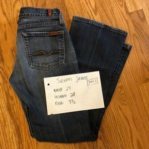 7 for all Mankind jeans sz 27 bootcut